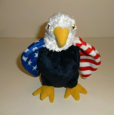 Soar The Patriotic Usa American Eagle ~Ty Store Exclusive~ Beanie Baby Mint  Tags f3190aae00b4