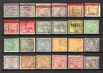 COLOMBIA & PANAMA OVERPRINTS EARLY TO MID PERIOD GOOD/FINE USEDRANGE x 24 STAMPS