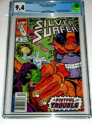Silver Surfer #44 CGC 9.4 RARE Newsstand Edition! 1st App. of INFINITY GAUNTLET!