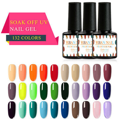 132 Classic Gel Nail Polish Soak off UV Gel Manicure Salon Party Show RBAN NAIL