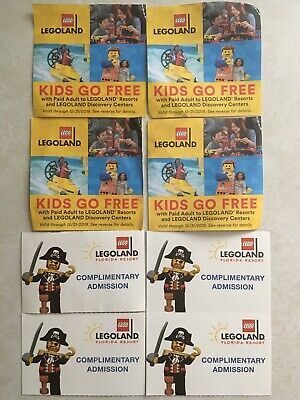 Legoland Florida Resort 4 pack of tickets with Free Child admission.