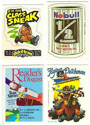 "WACKY PACKAGES ""KNOCK-OFFS"" LOT--Lot of 27 Vintage Stickers/Cards/Wrappers^"
