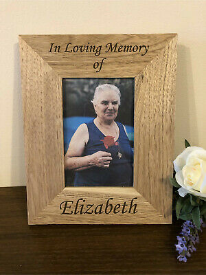 Personalised Wooden 6x4 Photo Frame - In Loving Memory Memorial  - Any Name