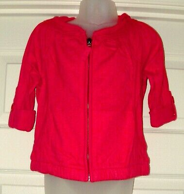 Bnwt Girls Next Red Hoody Jacket 4 Yrs 3-4 New Coat Top Summer Party Holiday