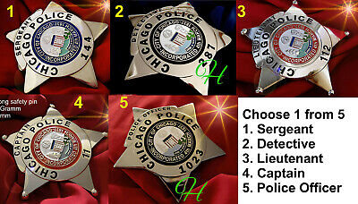 q7/ Historisches police badge + choose 1 from 5  Chicago badges, Illinoise