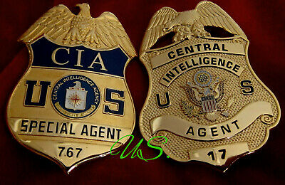 q7/ Historisches badge + CIA Special Agent or old CIA Central Intelligence Agent