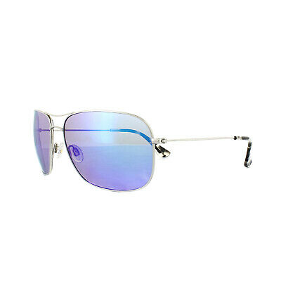 0ed6db758a3 MAUI JIM SUNGLASSES Breezeway B773-17 Silver Blue Hawaii Mirror ...