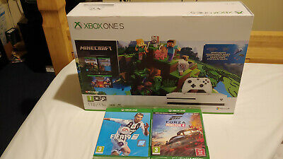 Microsoft Xbox One S 1TB Minecraft Bundle White + Fifa 19 & Forza Horizon 4