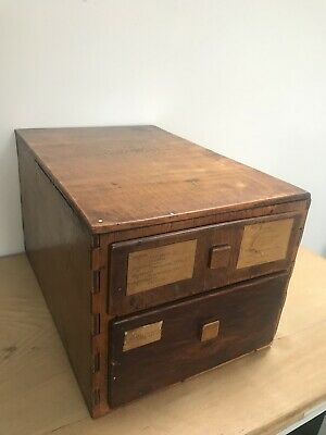 Vintage Apothecary Haberdashery Wooden Drawers