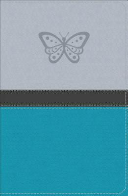 Kjv Study Bible for Girls Silver/teal, Butterfly Design Leathertouch Free Shippi