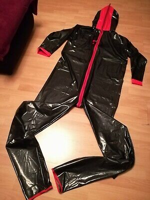 Adult Baby Strampler Overall Catsuit LACK PVC SCHLAFANZUG GUMMI GUMPLA GR.XL