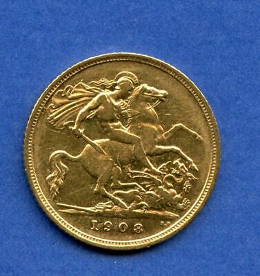 England 1/2 Sovereign 1908 Gold