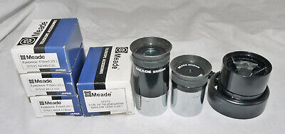 """Meade 1.25"""" Telescope Eyepieces & Filters - ND96 Yellow Blue / x2 Barlow / 25mm"""