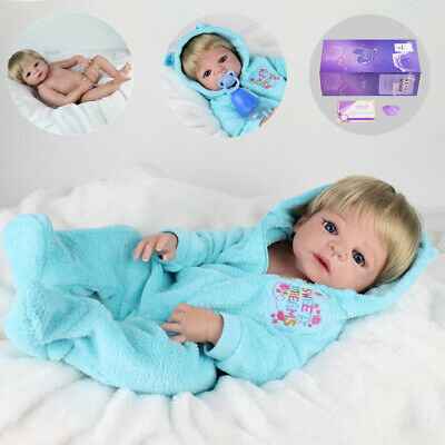 "22"" Full Body Vinyl Silicone Boy Doll Reborn Baby Dolls Realistic Newborn Gifts"