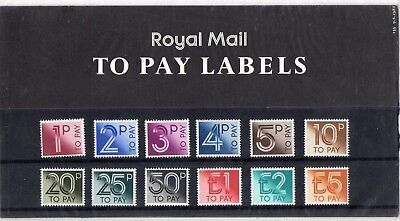 Gb 1982 Postage Due To Pay Labels Presentation Pack #135 In Very Good Condition