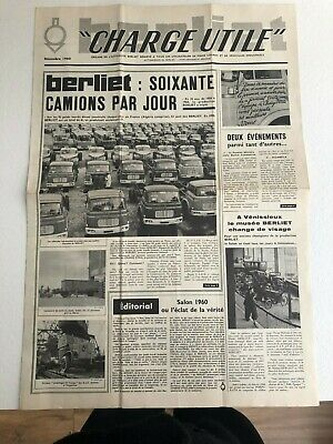 Berliet  Journal Des Etablissements / Charge Utile Decembre 1960