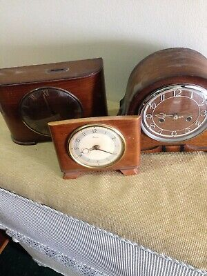 Mantle Clocks Chime Smiths Enfield,Bentima,time savings coin,Spares,job lot wood