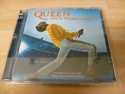 Queen Cd Live At Wembley Stadium 86 Complete Concert Remastered 2003 Mint Play !