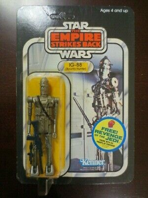 MOC Vintage Star Wars ESB 48 Back  IG-88 Unpunched