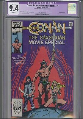 Conan the Barbarian Movie Special #1 CGC 9.4 1982 Purple restored: New Frame