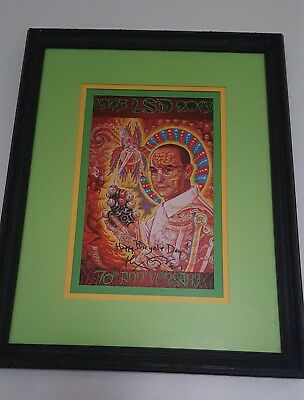 St. Albert 70th Anniversary Bicycle Day blotter Art Signed By Alex Grey