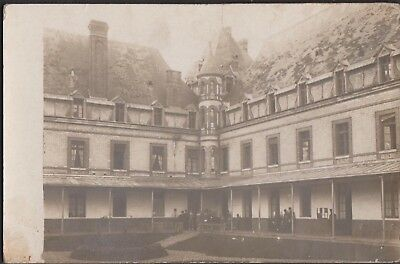 Soldiers outside officers' quarters military hospital -France? (message on back)