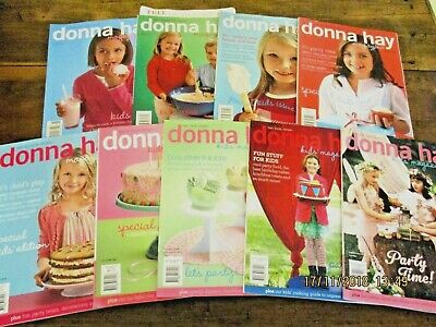 ~Donna Hay Kids Magazines - Issues 1, 2, 3, 4, 5, 6, 7, 8, 9 - Gc~