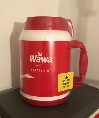 Wawa Gas Station 64oz Gigantic Red Mug Cup Insulated Double Wall Fountain Drink