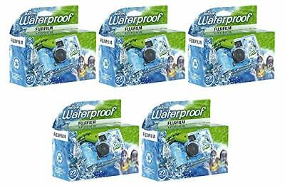 Fujifilm Quick Snap Waterproof 27exp 35mm Camera 800 film,Blue/Green/white,5Pack