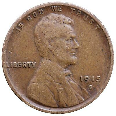 1915 S Lincoln Wheat Cent Fine Penny FN