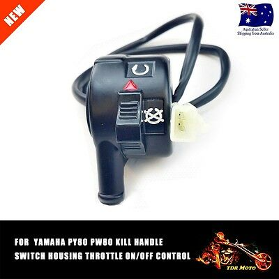 Throttle Housing On/fee Control Kill Handle Switch For Yamaha Py80 Pw80 80