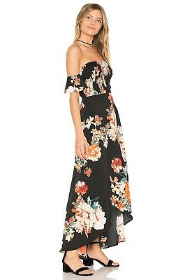 51d439844a8 BAND OF GYPSIES Dress Size Small Candice Tropical Mix Print Maxi ...