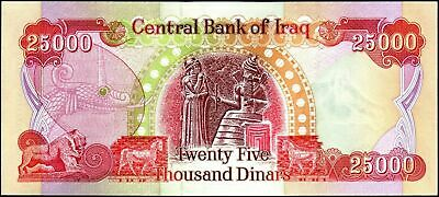50,000 Iraq Dinar Lot of 2 25,000 Banknotes 2 X 25,000 Uncirculated & Authentic