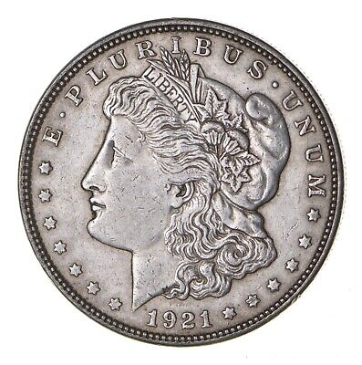 1921 - Morgan Silver Dollar - Last Year - 90% - US Coin *083