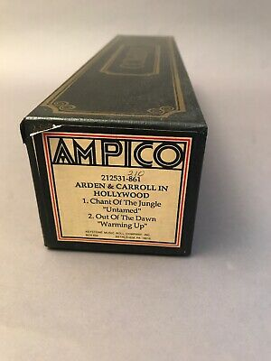 Ampico Piano Roll 212531-861 Arden & Carroll In Hollywood