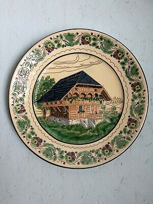 Antique Langnauer Decorative Pottery Wall Plate - Langnau, Switzerland