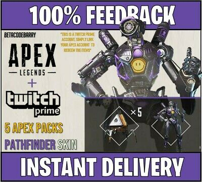 Apex Legends: Twitch Prime Loot [PS4/PC/XBOX] | 5 Apex Packs + Pathfinder Skin