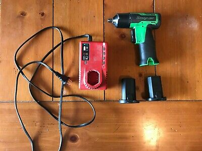 """Snap on 3/8"""" Impact Gun Cordless Tool with Two Batteries and Charger"""