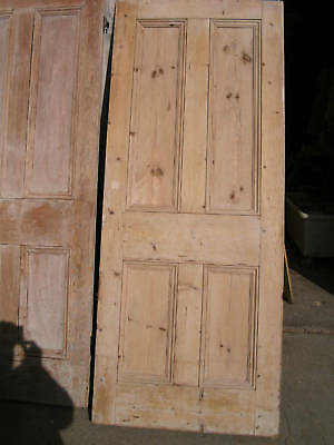 "Reclaimed PINE Door original period 4 four panel style up to 29 1/4"" x 76""tall"