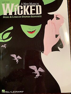 Easy Piano Song Book A New Musical Wicked By Hal Leonard