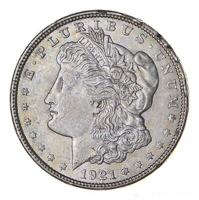 1921 - Morgan Silver Dollar - Last Year - 90% - US Coin *082