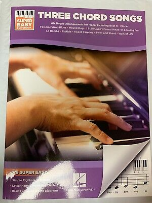 Super Easy Piano Three Chord Songs By Hal Leonard With 60 Songs Classics And Pop
