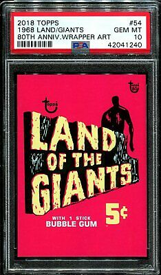 2018 Topps 80th Anniversary Wrapper Art #54 ~ 1968 Land of Giants /244 ~ PSA 10