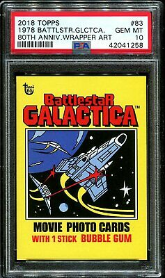 2018 Topps 80th Anniversary Wrapper Art 83 1978 Battlestar Galactica /237 PSA 10