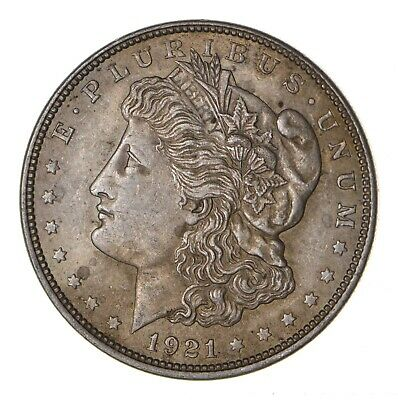 1921 - Morgan Silver Dollar - Last Year - 90% - US Coin *086