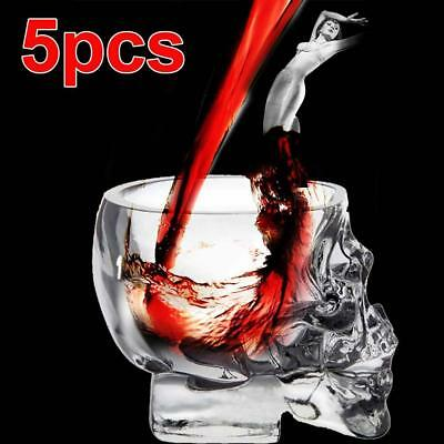 5pc Crystal Skull Head Shot Glass Red Wine Vodka Cup champagne Glass Ball Bar TH