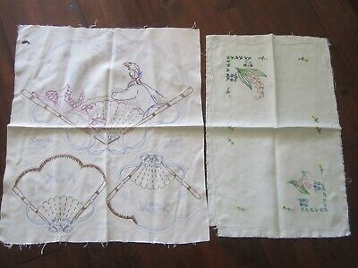 2 x Vintage Doilies to Embroider Semco and AGM