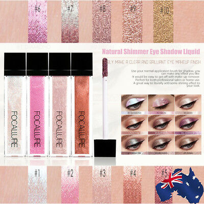 10 Colors Glitter Shimmer Metallic Eyeshadow Waterproof Liquid Eye Shadow Pen B⊥