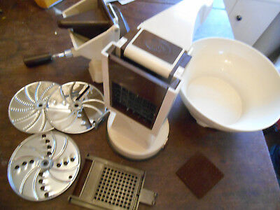 Vintage Retro Mofp Slicer Chipper French Bowl Salad Spares Vegetables Kitchen