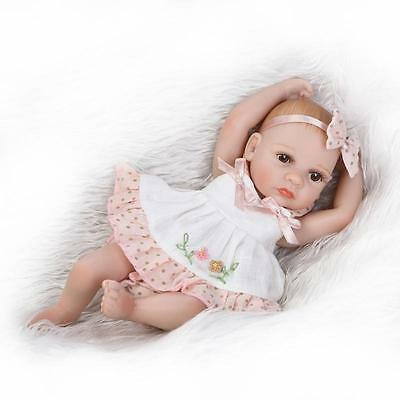 "10"" Reborn Baby Girl Doll Full Silicone Anatomically Sleeping Doll Xmas Gifts US"